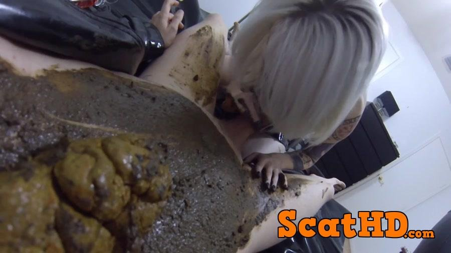 Jessica - Fucked DEEP  HARD Covered Poop After Catching a Voyeur! [FullHD 1080p]