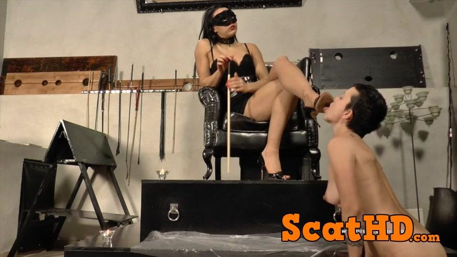 Mistress Gaia - Shit training lesson [HD 720p]