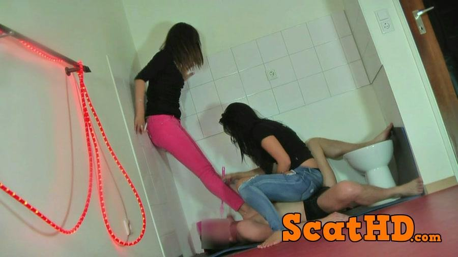 Lady Stella, Lady Angelika - Punish slave Bodo, part 1 [HD 720p]