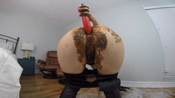 HotScatWife - Leather PANTS POOP PLAY DAY [FullHD 1080p]