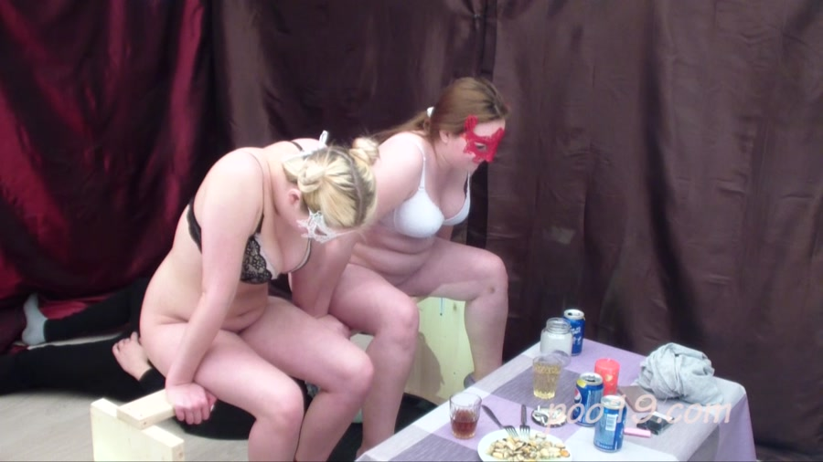 Smelly Milana - Toilet slave quickly swallows shit of two girls [HD 720p]
