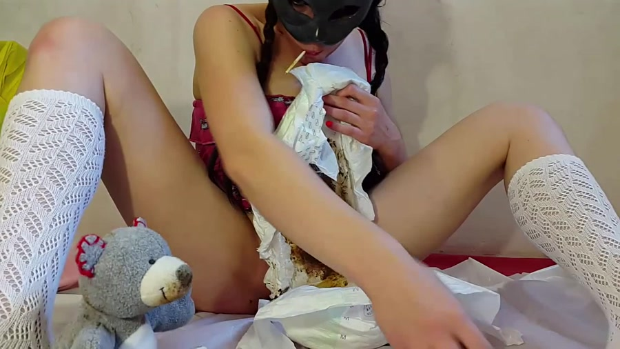 Anna Coprofield - My First Diaper and ABDL Video [FullHD 1080p]