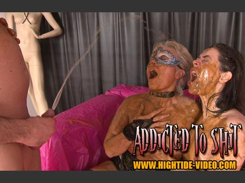 Models: Gina, Ingrid, 1 Male - ADDICTED TO SHIT [SD]