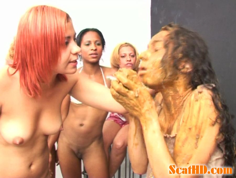ShitGirls - Forced to swallow scat 7 [SD]
