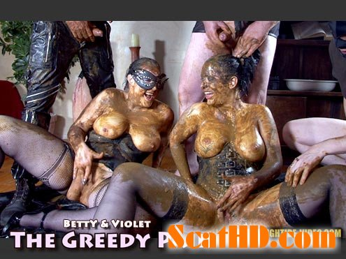 Betty, Violet, 3 males - THE GREEDY PAIR [HD 720p]