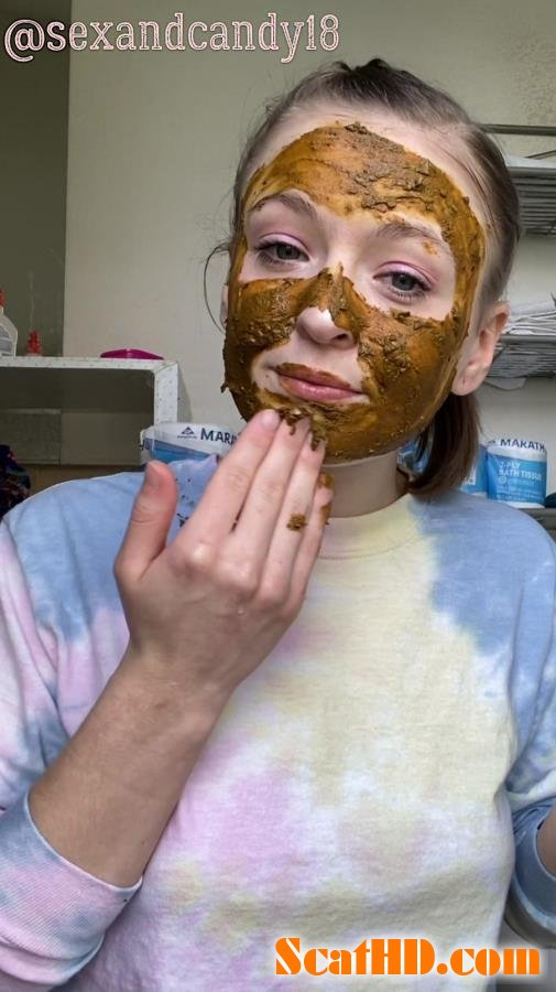 sexandcandy18 - Teen's first diaper fill + face mask! [UltraHD 2K]