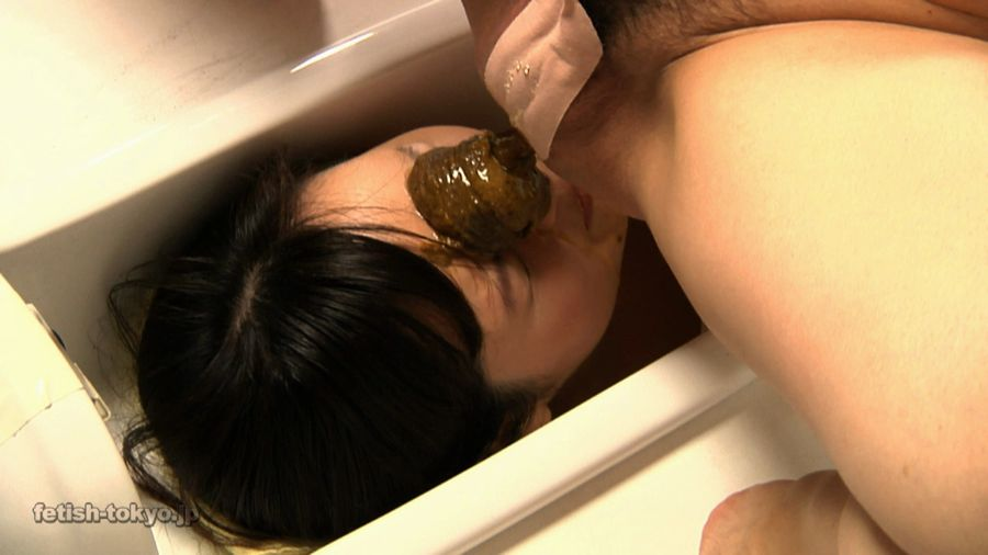 A sexy toilet mistress and her female scat slave femdom german scat feeding pics