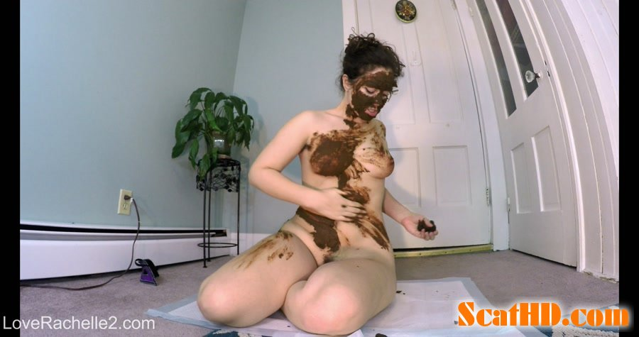 LoveRachelle2 - Stinky SHIT Mask! Eating, Smearing and Cumming [4K UltraHD]