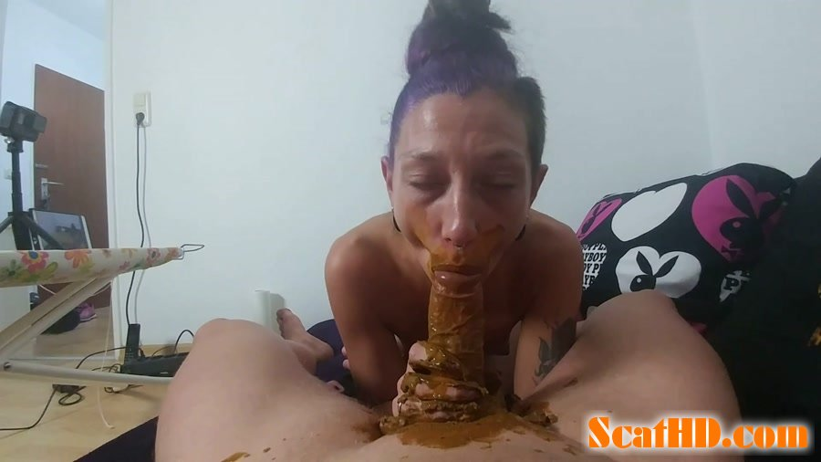 KV-GIRL - Mouth full of shit and cock blown [FullHD 1080p]